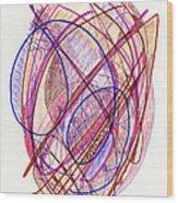 Abstract Drawing Twenty-two Wood Print