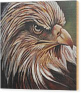 Abstract Eagle Painting Wood Print