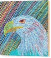 Abstract Eagle With Red Eye Wood Print by Kenal Louis