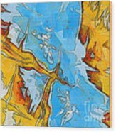 Abstract Elements  Wood Print