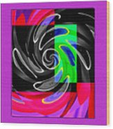 Abstract En Coulor Wood Print