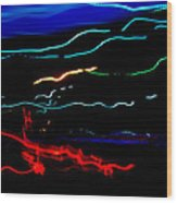 Abstract Evening Lights 2 Wood Print