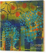 Abstract Expressions - Background Art Wood Print