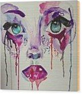 Abstract Eyes Wood Print