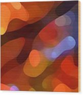 Abstract Fall Light Wood Print