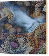 Abstract Falls Wood Print