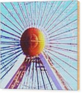 Abstract Ferris Wheel Wood Print
