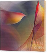 Abstract Fine Art Print Early In The Morning Wood Print