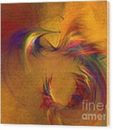 Abstract Fine Art Print High Spirits Wood Print
