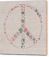 Peace Symbol Design - S77bt01 Wood Print
