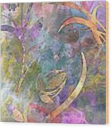 Abstract Floral Designe - Panel 1 Wood Print