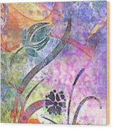 Abstract Floral Designe - Panel 2 Wood Print