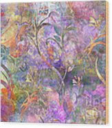 Abstract Floral Designe  Wood Print