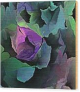 Abstract Floral Expression 041213 Wood Print
