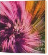 Abstract Flower Spiral Wood Print