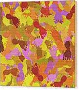 Abstract Footprints Wood Print