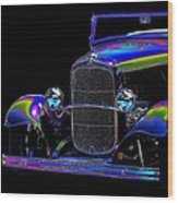 Abstract Ford - Classic Hotrods Wood Print