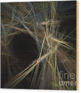 Abstract Fractal Background 01 Wood Print
