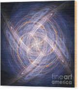 Abstract Fractal Background 17 Wood Print