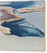 Abstract From The Land Of Geysers. Yellowstone Wood Print