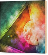 Abstract Full Moon Spectrum Wood Print