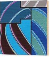 Abstract Fusion 143 Wood Print