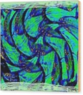 Abstract Fusion 167 Wood Print