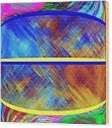 Abstract Fusion 173 Wood Print
