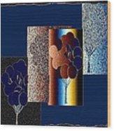 Abstract Fusion 191 Wood Print