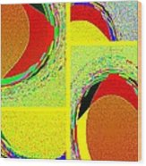 Abstract Fusion 199 Wood Print
