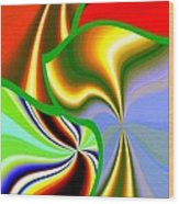 Abstract Fusion 200 Wood Print