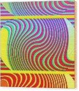 Abstract Fusion 205 Wood Print