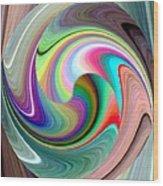 Abstract Fusion 241 Wood Print
