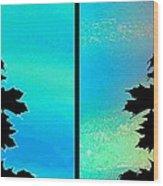 Abstract Fusion 243 Wood Print