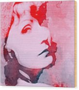 Abstract Garbo Wood Print