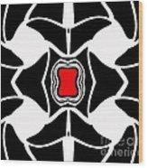 Abstract Geometric Black White Red Art No.381. Wood Print by Drinka Mercep