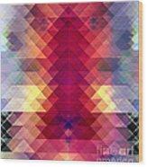 Abstract Geometric Spectrum Wood Print