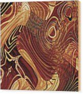 Abstract Gold 3 Wood Print