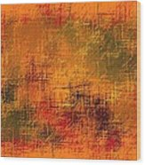 Abstract Golden Earth Tones Abstract Wood Print
