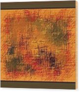 Abstract Golden Earthones With Quad Border Wood Print