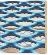 Abstract Grate Wood Print