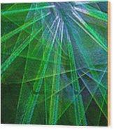 Abstract Green Lights Wood Print