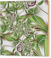 Abstract Green Plant Wood Print