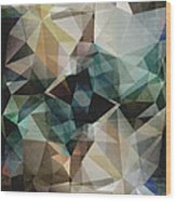 Abstract Grunge Triangles Wood Print