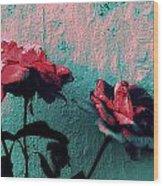 Abstract Hdr Roses Wood Print