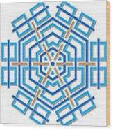 Abstract Hexagonal Shape Wood Print
