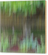 Abstract In Green Wood Print