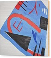 Abstract In Japanese Style Wood Print