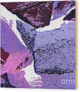 Abstract In Purple Wood Print