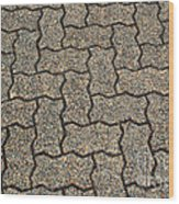 Abstract Interlocking Pavement Wood Print